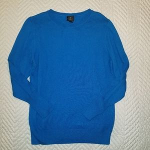 WORTHINGTON BLUE SWEATER PETITE LARGE COMFY